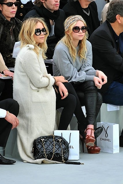 twins Olsen at Chanel fashionshow
